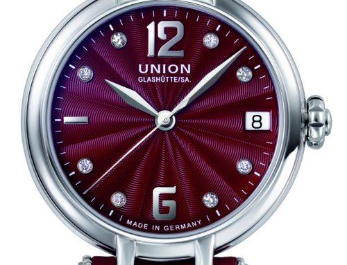 Luxuriöse Momente in Bordeauxrot –  mit der neuen Sirona Datum von Union Glashütte